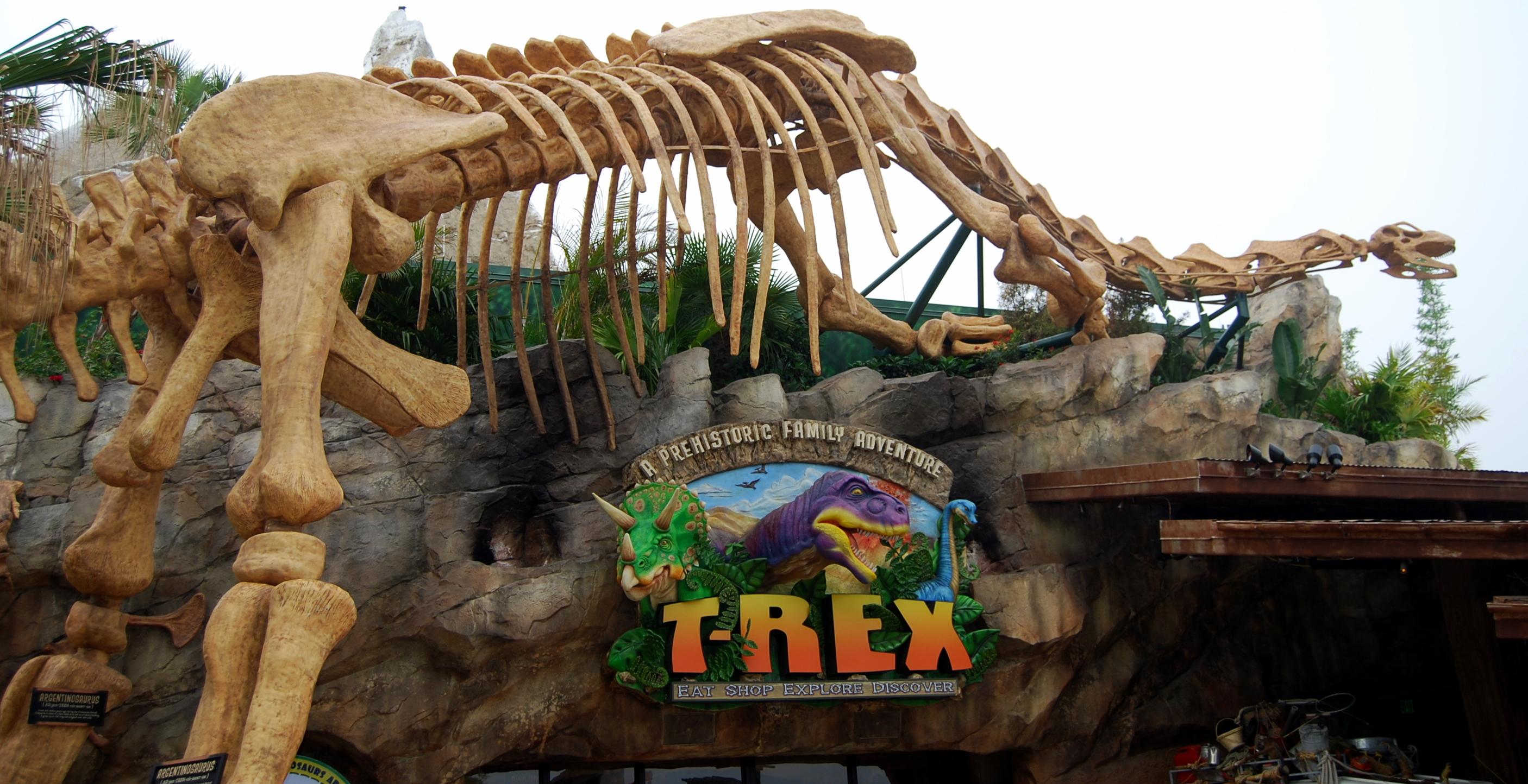 Restaurante viagens da pam for Disney dining plan t rex